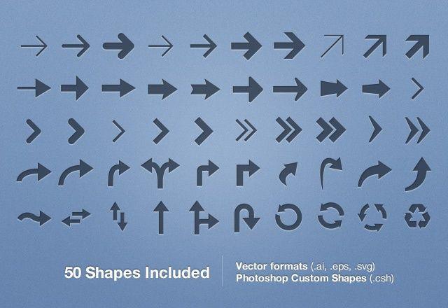 Free Vector Arrows Set Vol 1 Vector Free Vector Web Design