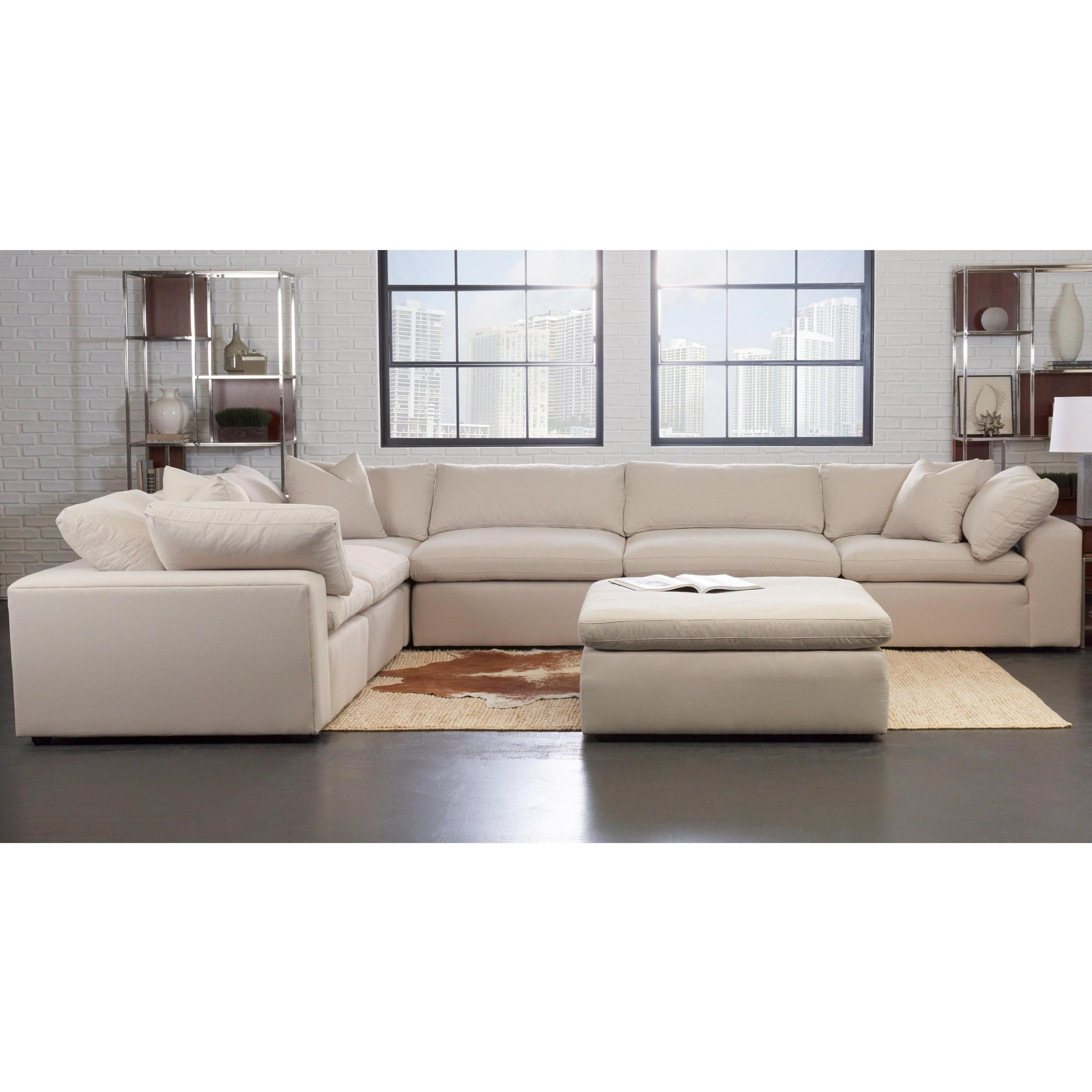 Monterey Contemporary 6 Pc Modular Sectional Sofa By Klaussner