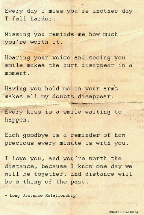 Letter to boyfriend long distance