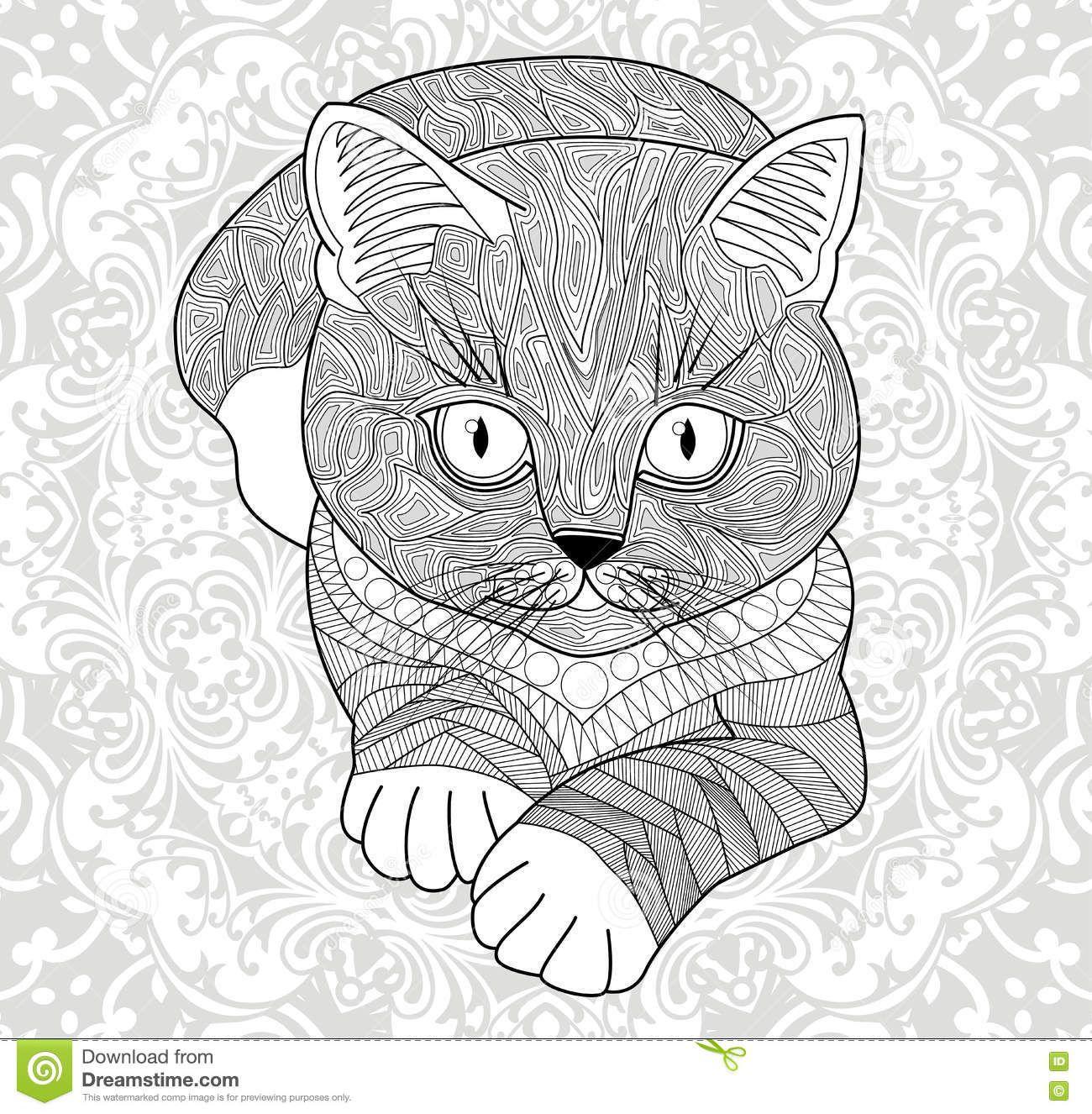 Pin by barbara on coloring cat pinterest flower mandala adult