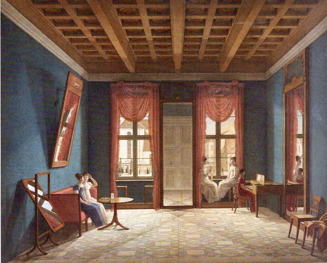 Johann erdmann hummel berliner zimmer 1825 prussian culture before 1871 pinterest - Berliner zimmer ...
