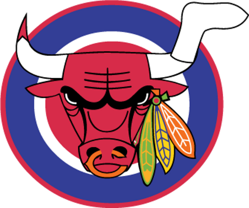 Combination Of Bulls Blackhawks Sox Bears And Cubs Logo Chicago Sports Teams Chicago Shirts Cubs Sox
