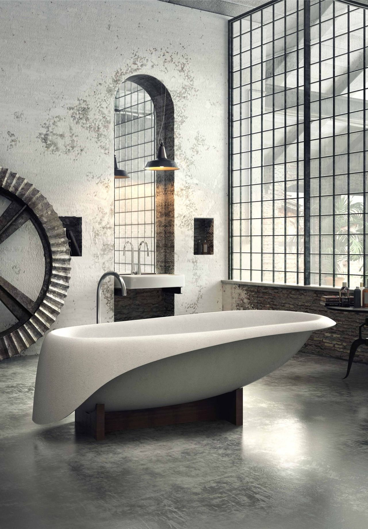 30 Inspiring Industrial Bathroom Ideas | Pinterest | Industrial ...