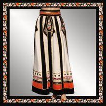 Vintage 1970s Peasant Skirt Malcolm Starr Caspian Sea Collection by Rizkallah Ladies Size Medium