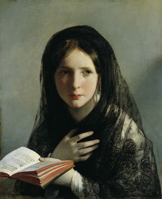 Friedrich Von Amerling - Lost in Her Dreams [1835], via Flickr.