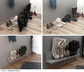 Photo of Minimalist shoe rack