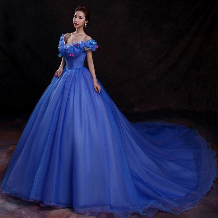 75d89177e8d Chic Quinceanera Dress A-line Ball Gowns Off-the-shoulder Organza Applique  Evening Dress AM779