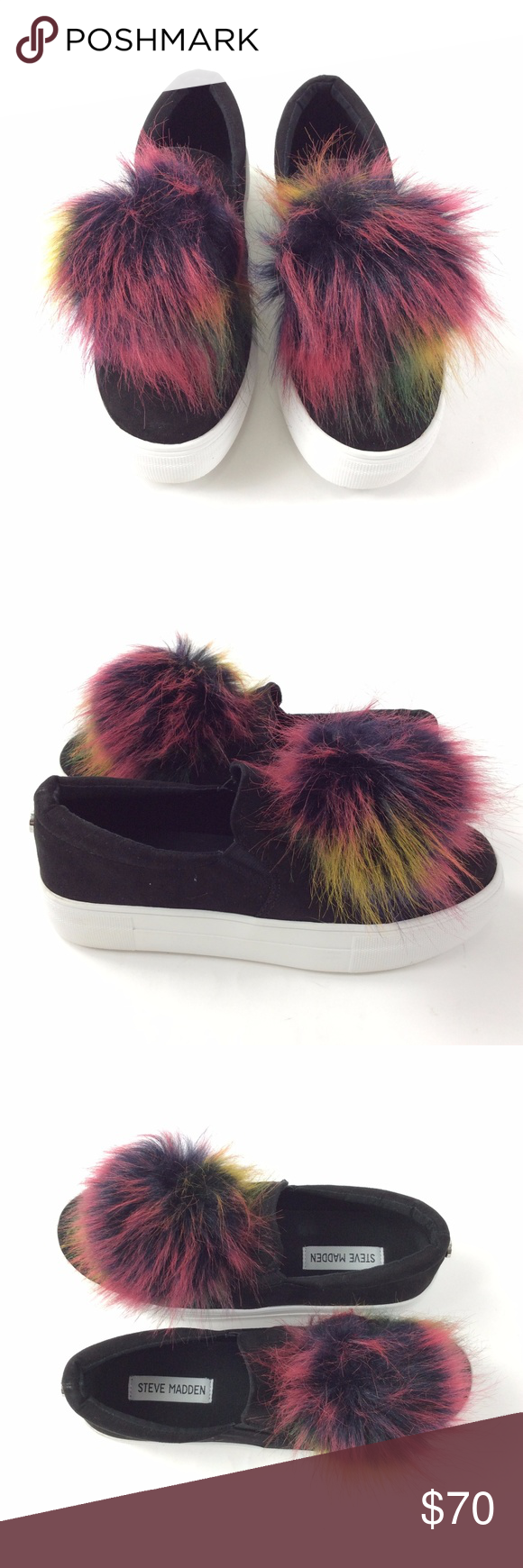 2bcd9101c75 Steve Madden Great Faux Suede Fur Sneaker Faux suede upper with ...