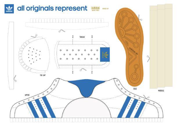Adidas SneakerVerpackung PapierpuppenBabyschuhe Adidas