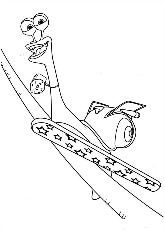Turbo Coloring pages for kids. Printable. Online Coloring. 5 ...