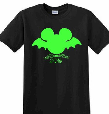0de099f0 Disney Customized Printed T-shirt Mickey Mouse Halloween Glow in the Dark…