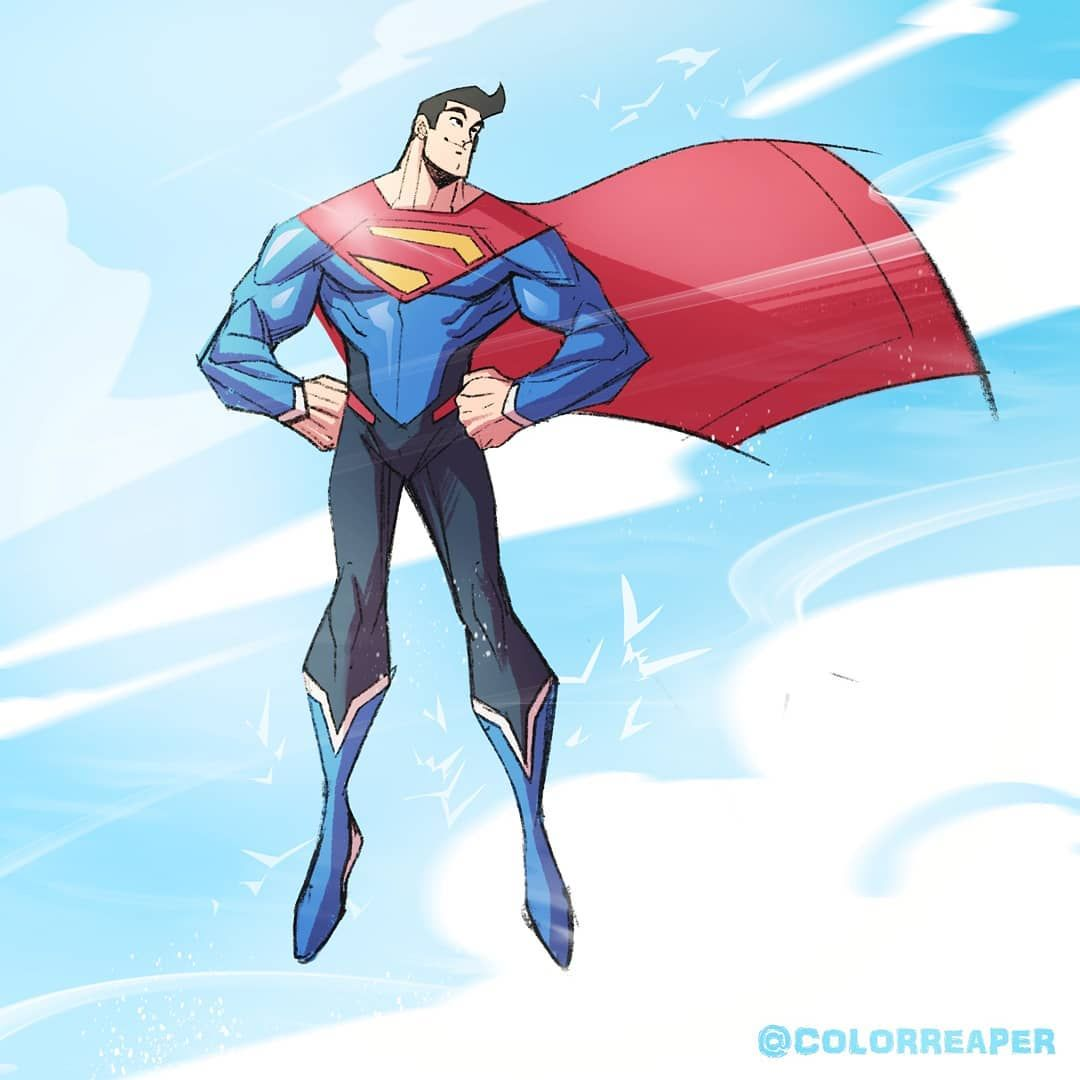 Animated Suit Testing.. #superman #clarkkent #dccomics