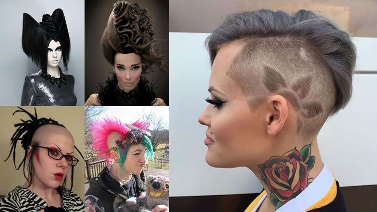30 peinados y cortes de pelo extremos para locas ...