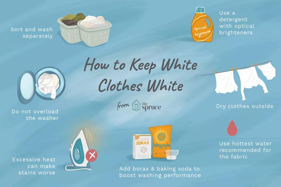 How To Keep White Clothes White Washing White Clothes Cleaning White Clothes White Outfits