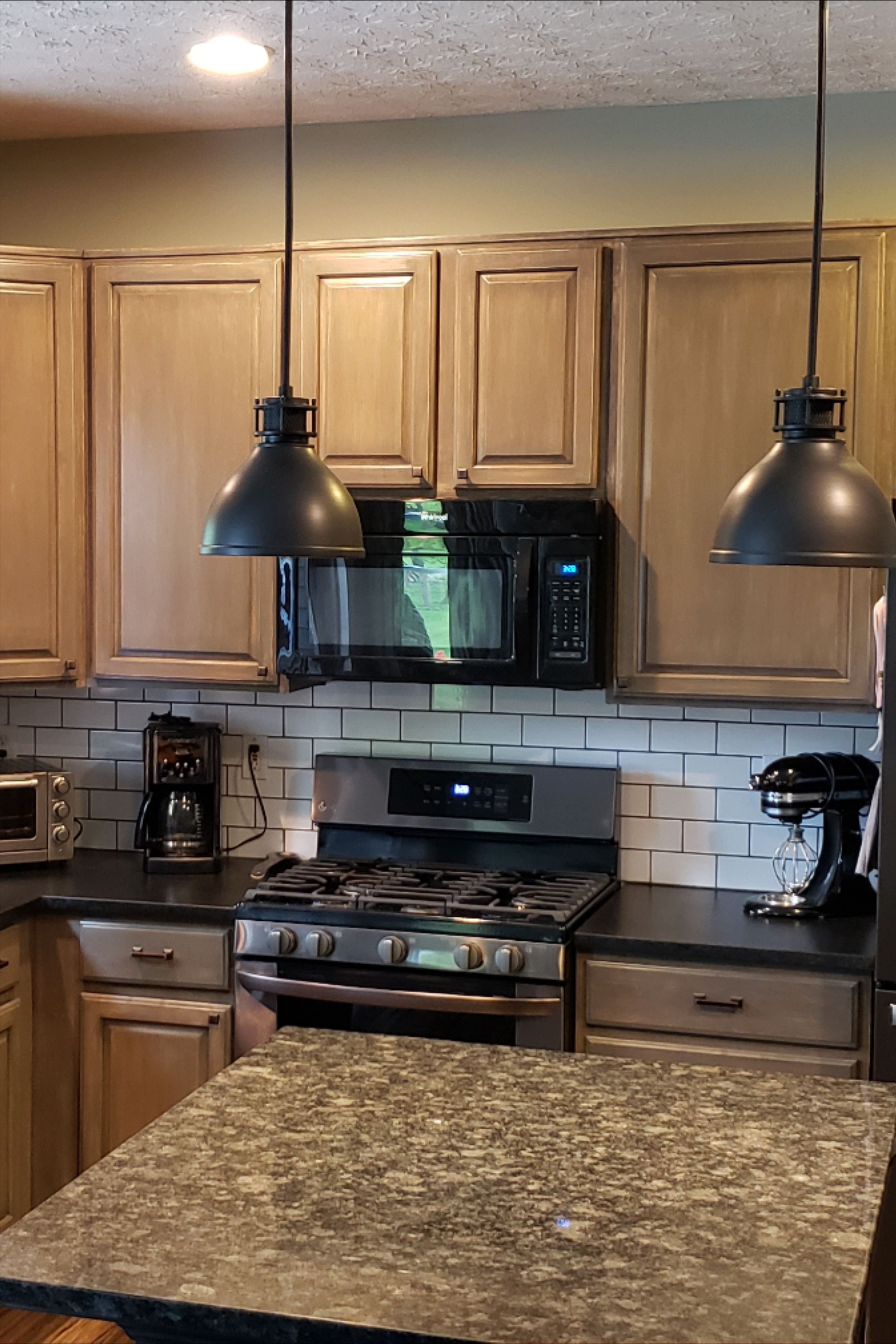 Maple Cabinet Refinish Using General Finishes Graystone In 2020 Maple Kitchen Cabinets Maple Cabinets Refinishing Cabinets