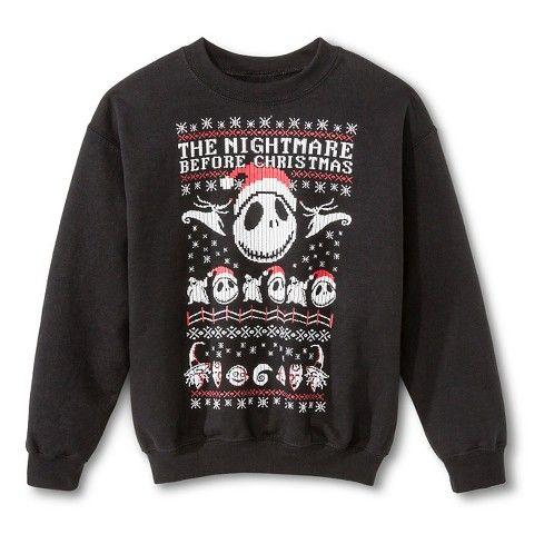 Nightmare Before Christmas Boys Sweater | Holidays: Xmas Sweater ...