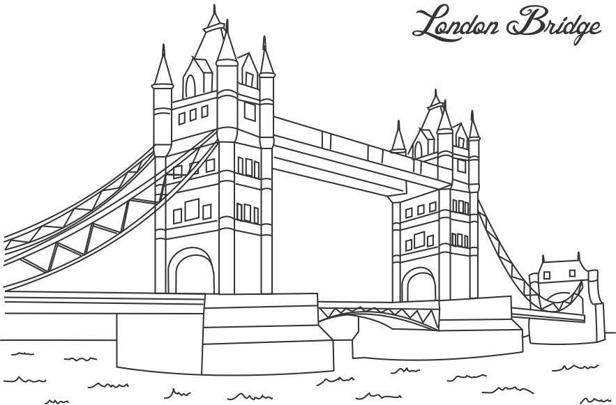 London Bridge coloring printable page for kids | Craft | Pinterest ...