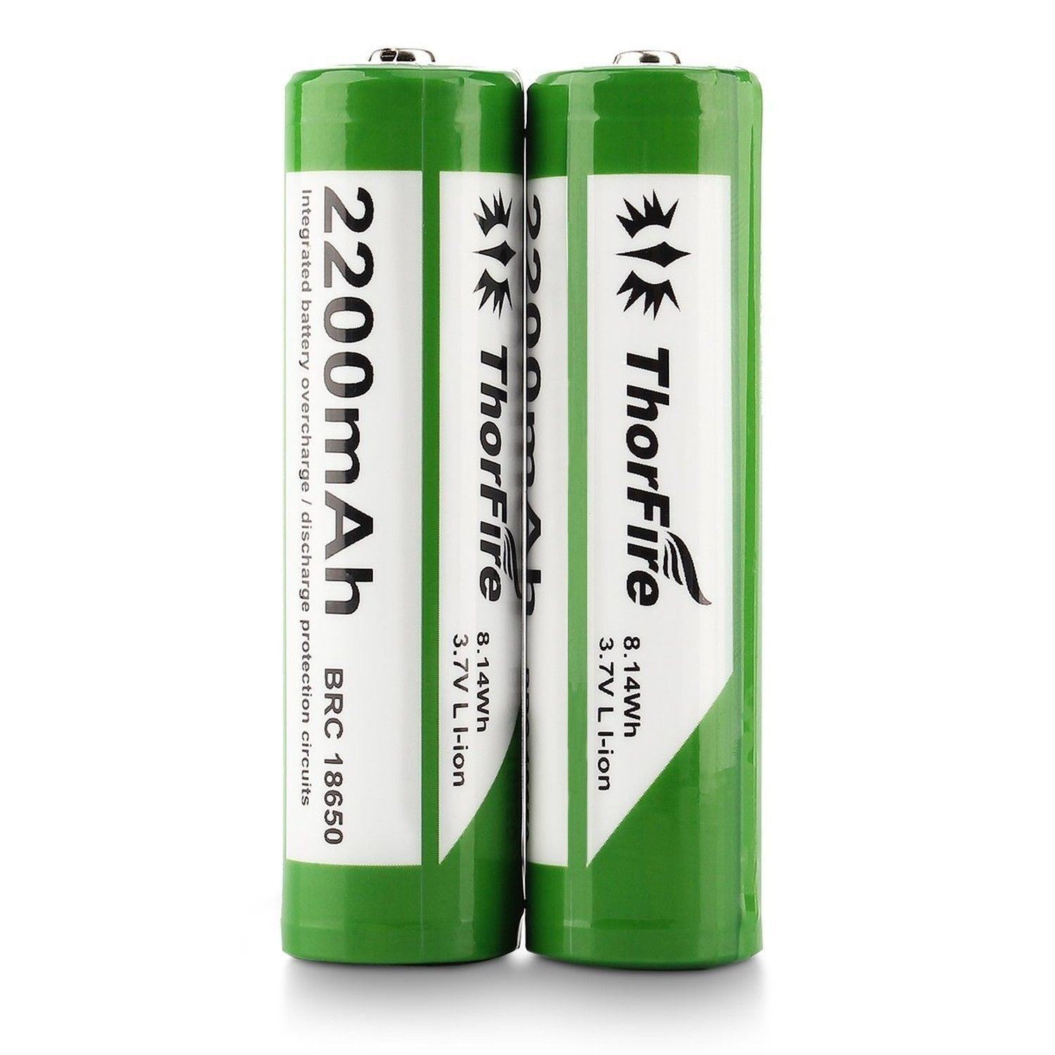 Thorfire 2200 Mah 37v 18650 Battery Protected Rechargeable Li Ion Protection Circuit Fo