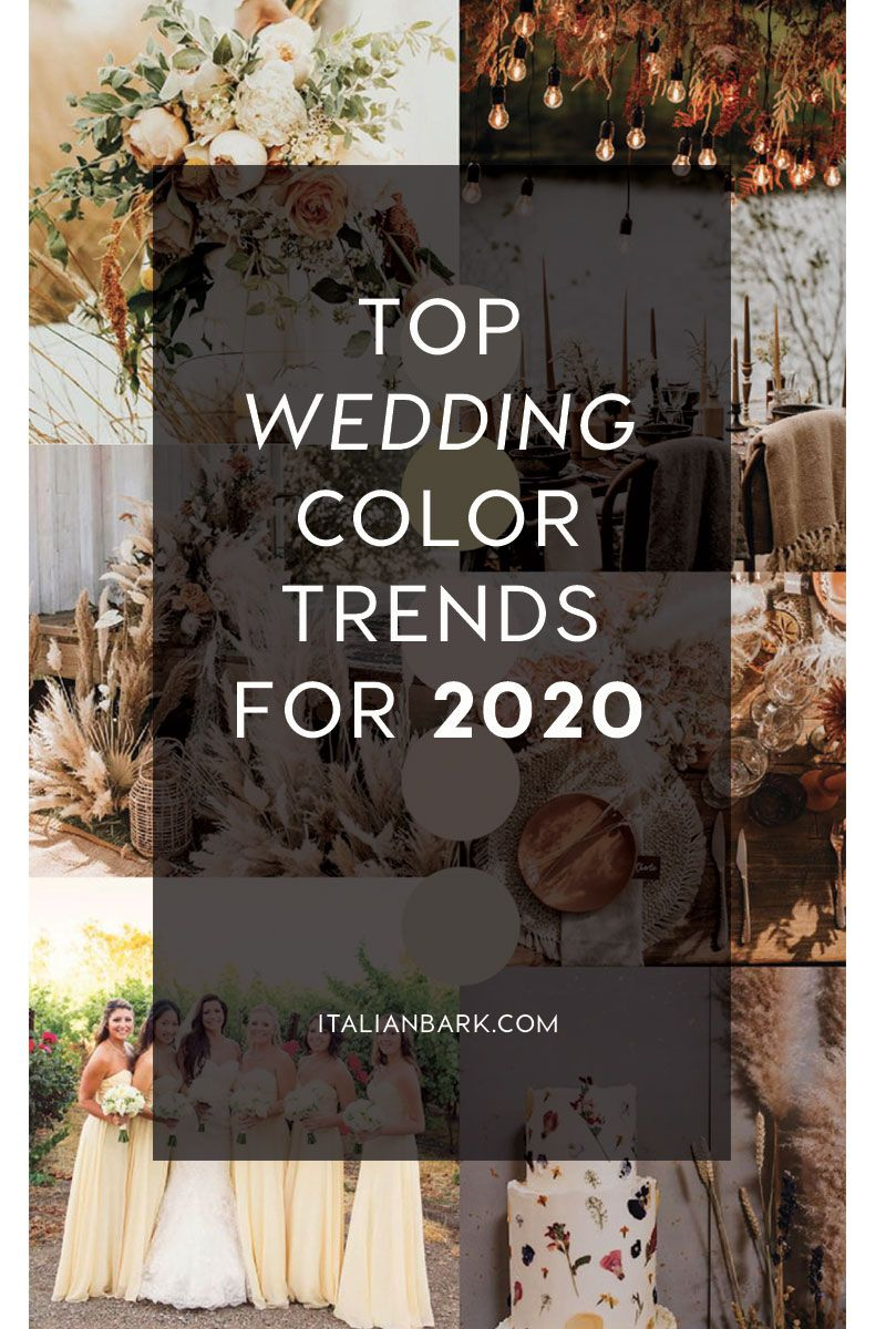 TOP WEDDING COLOR TRENDS for this 2020 March wedding