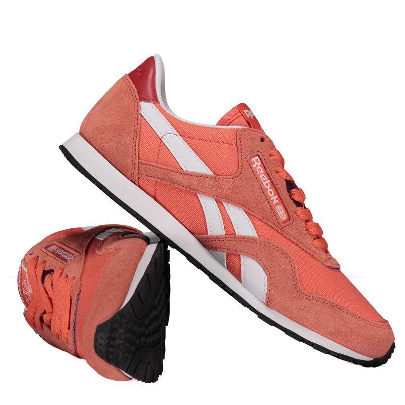 557f8678b7b Tênis Reebok Classic Nylon S HV Feminino Laranja Somente na FutFanatics  você compra agora Tênis Reebok
