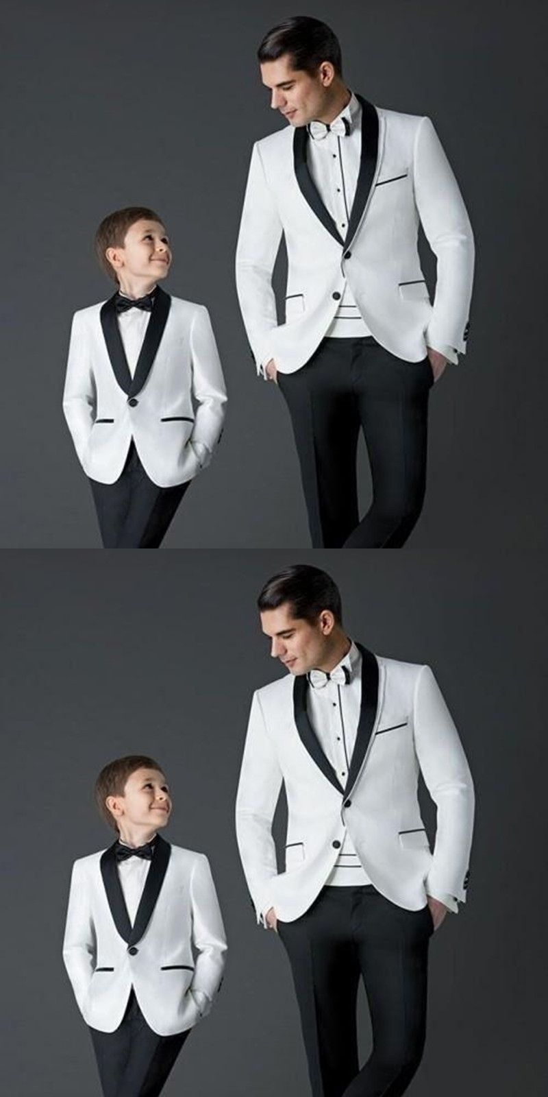 2017 New Style boys suits for weddings Children Suit new Black/White ...