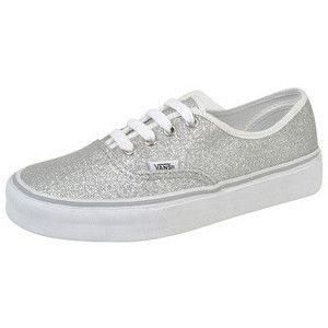 vans silver glitter | VANS Womens