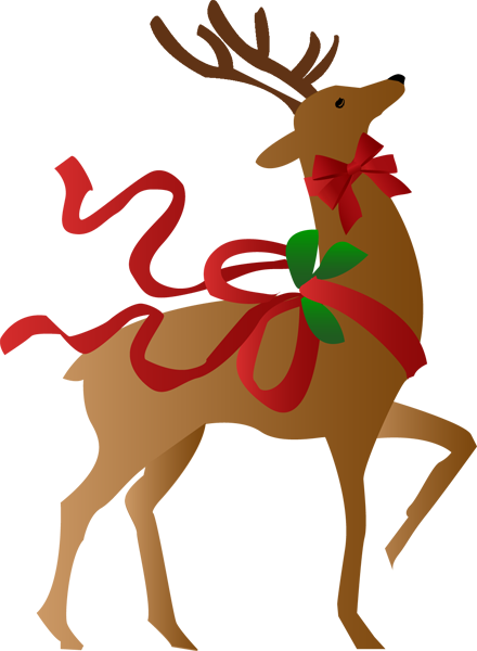a christmas reindeer clip art merry and holidays rh pinterest com  father christmas and reindeer clipart