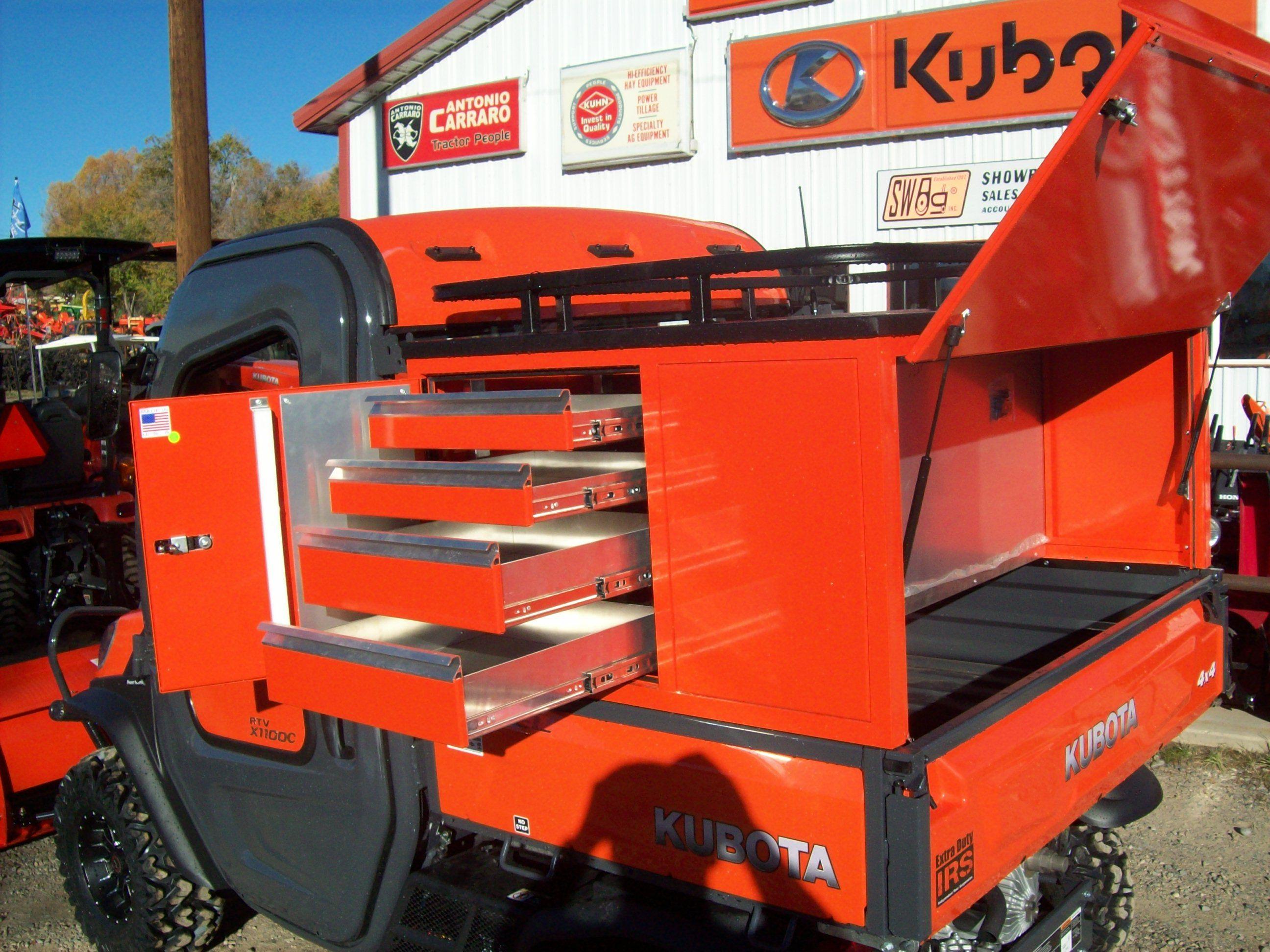 Kubota Tractor Tool Box : After market rtv tool box southwest ag kubota lineup