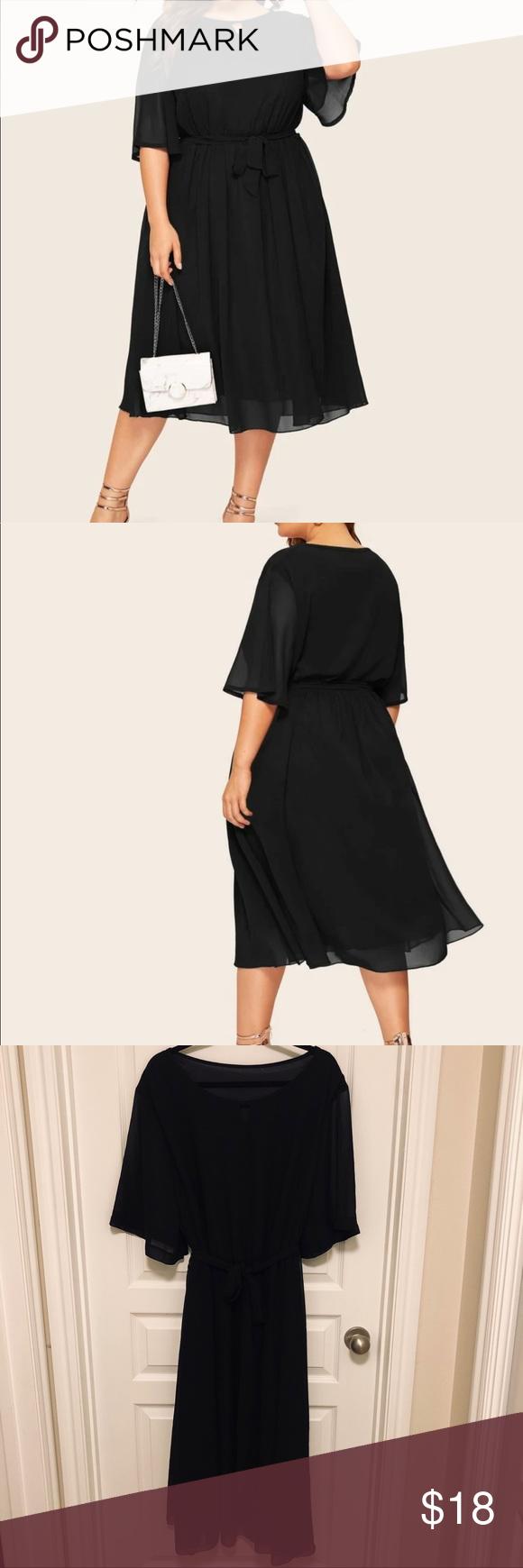 Shein Midi Black Dress 2x Nwot Black Midi Dress Dresses 2x Clothes Design [ 1740 x 580 Pixel ]