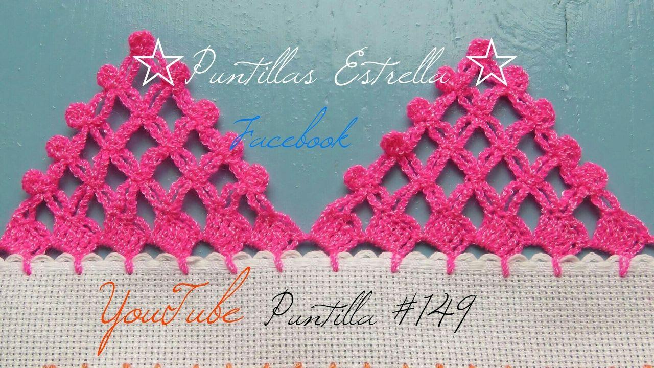 Puntilla #149 | Patrones de ganchillo | Pinterest | Orillas ...