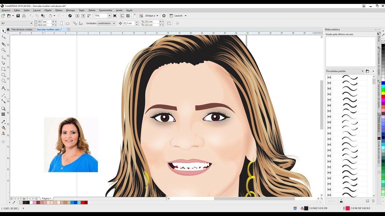 Transformar Foto Em Desenho Corel Draw Tutorial Completo 2 Dikas