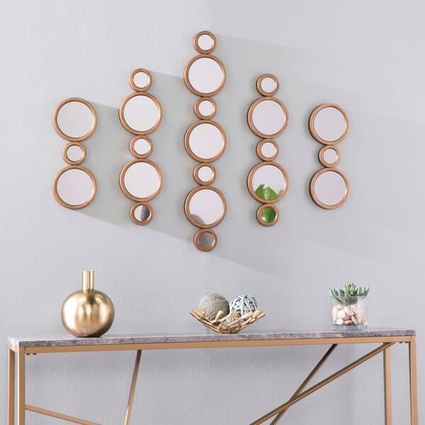 Silver Orchid Melandra Midcentury Modern Gold Metal Wall Decor