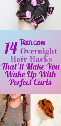 Overnight Curls Hacks for Curly Hairstyles No Heat