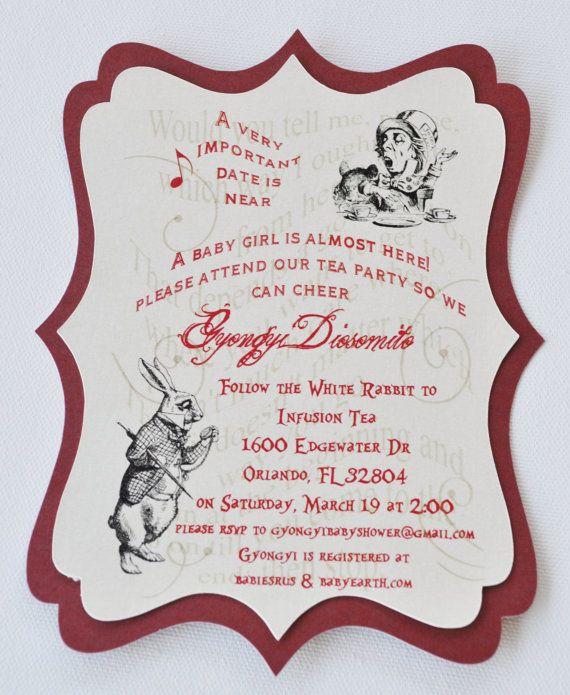 Layered vintage alice in wonderland mad hatter tea party invites layered vintage alice in wonderland mad hatter tea party invites 2750 usd via etsy stopboris Images