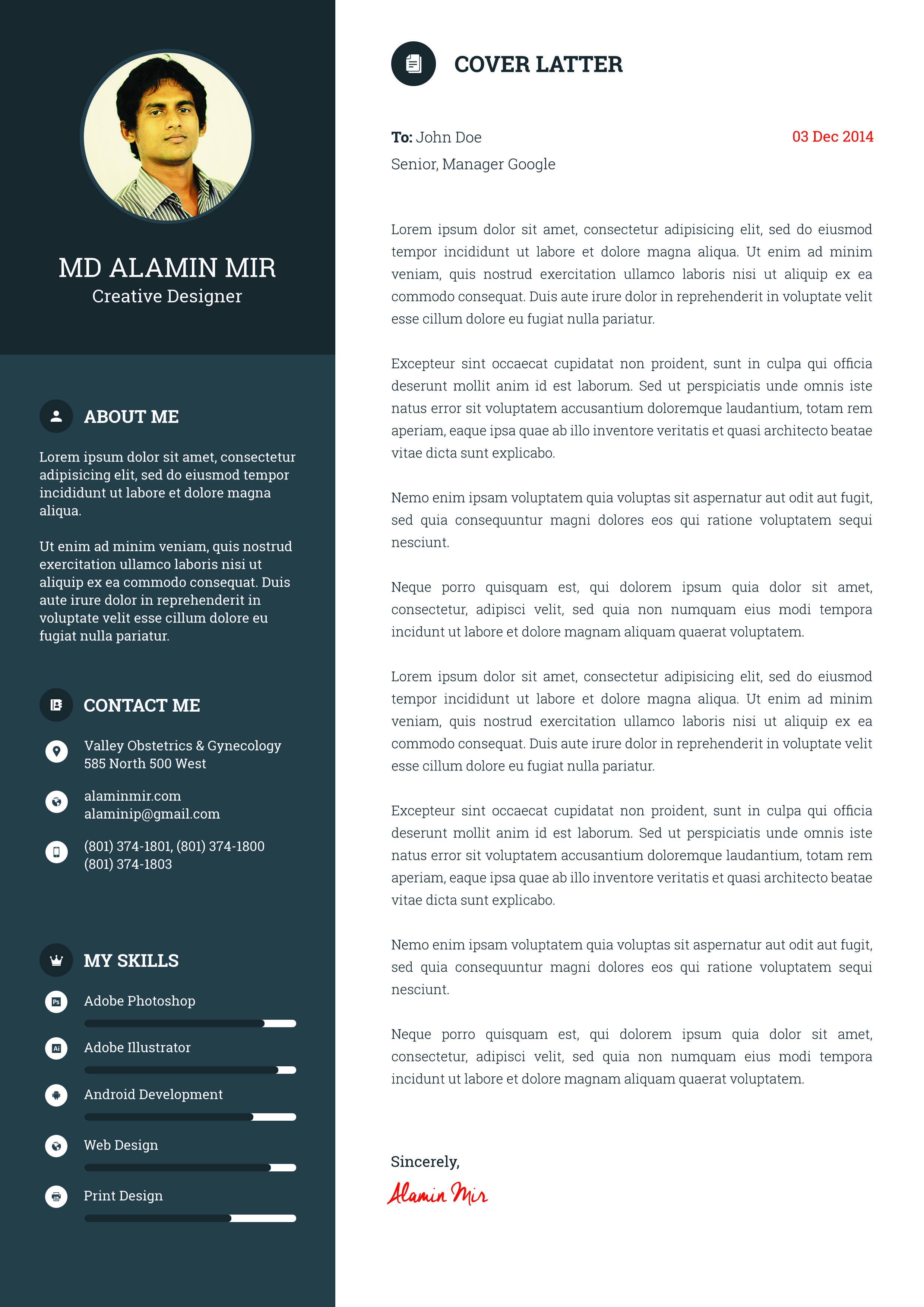 example 7 I will design Resume, awesome Cv for you for