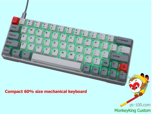 Small 60 Mechanical Keyboard With Full Rgb Programmable Smart