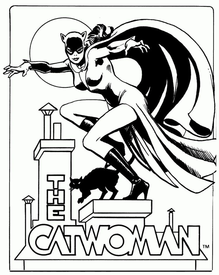Batman Coloring Pages Ic Book Rhpinterest: Harley Quinn And Catwoman Coloring Pages At Baymontmadison.com