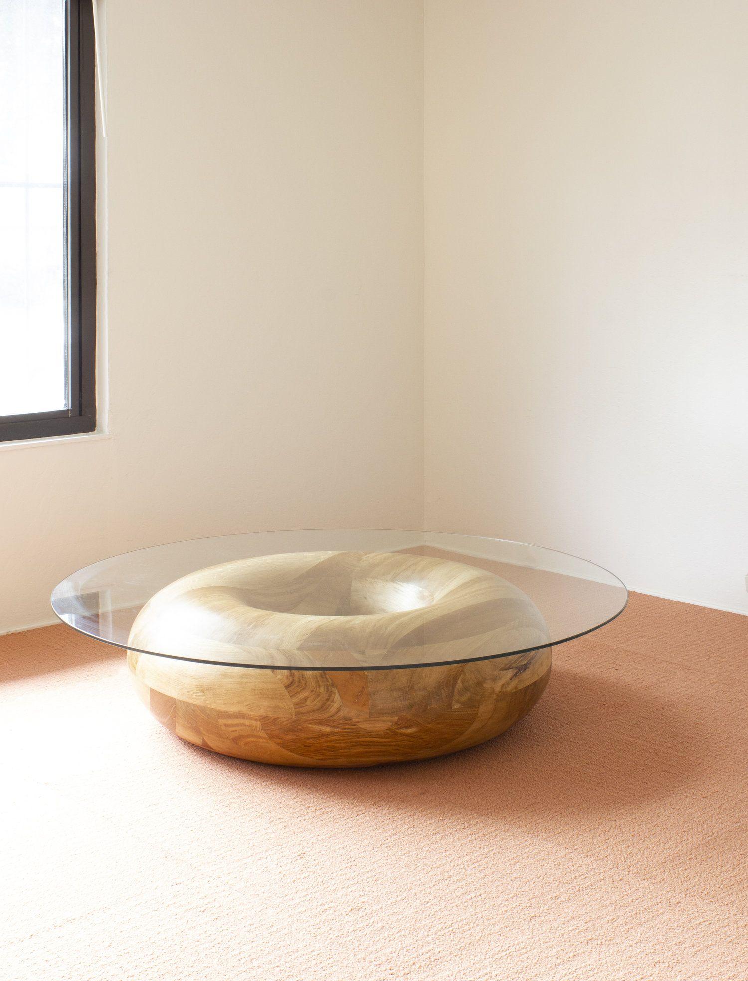 Doughnut coffee table softgeometry solid oak coffee