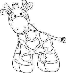 Giraffe Clipart Image Cartoon Baby Giraffe Baby Giraffe