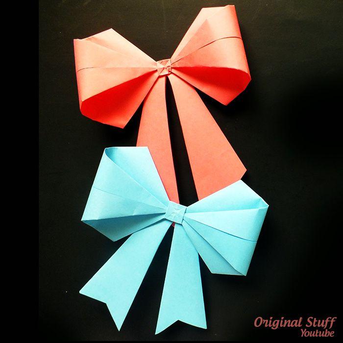 Moo O Lazo Origami En Nuestro Tutorial Que Esta En Youtube Te