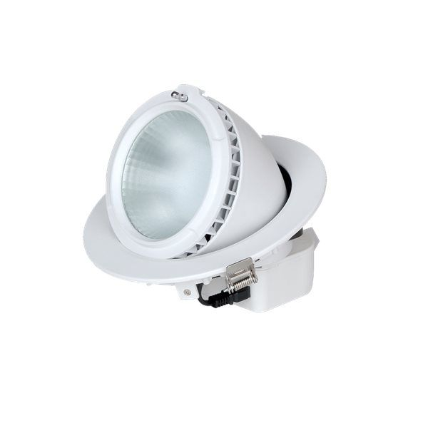 DOWNLIGHT REDONDO ORIENTABLE 28W 5000K 2300Im http://www.ledandcolors.com/downlightled/downlight-orientable-28w-5000k-14.html  El Downlight LED está diseñado para adaptarse tanto a una substitución como a un nuevo proyecto.  Instalar Downlights Led favorece el descanso  ocular ya que emite una luz constante y sin parpadeos.  Gran disipación y prácticamente sin generación de calor.