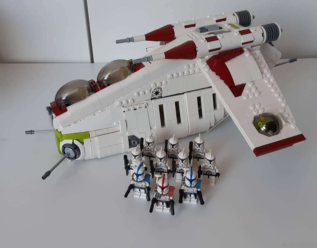 PARTS LIST Wolfpack Gunship INSTRUCTIONS Custom LEGO Star Wars Republic