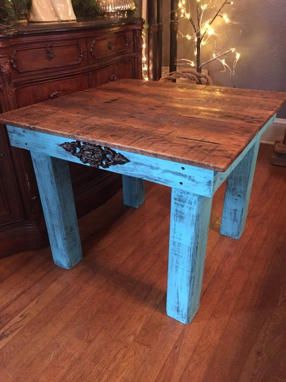 """This is the perfect addition to your home furnishings!! The reclaimed wood end table/side table is large enough to hold just what you need but small enough to fit anywhere in any room!  This table pairs perfectly with our coffee table that that is listed in our shop as well!!  It measures approximately 30"""" x 30"""" x 22"""