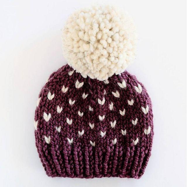 9894e1266 Little Hearts Fair Isle Hat pattern by Destiny Meyer | knitting ...