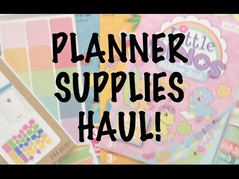 PLANNER SUPPLIES HAUL | Michaels Stickers & Washi Tape - YouTube