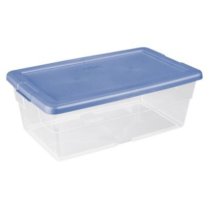 Clear Storage Bin   White: For Batteries, First Aid, Etc.