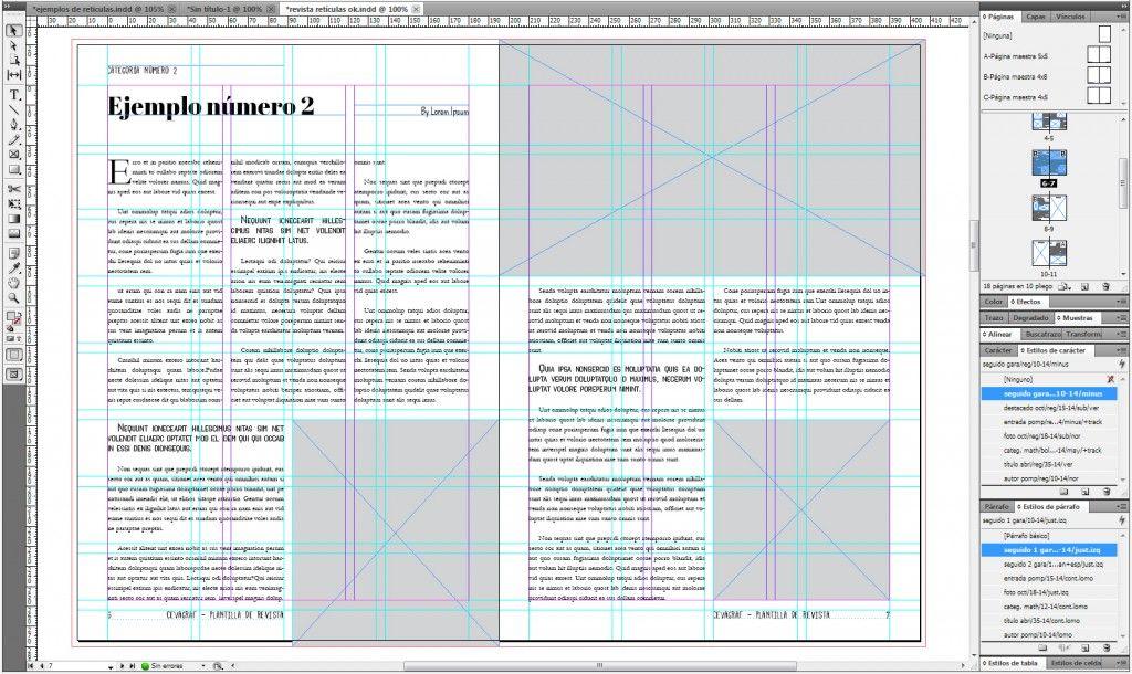 Retícula modular: una forma rápida de maquetar tu revista | Adobe ...