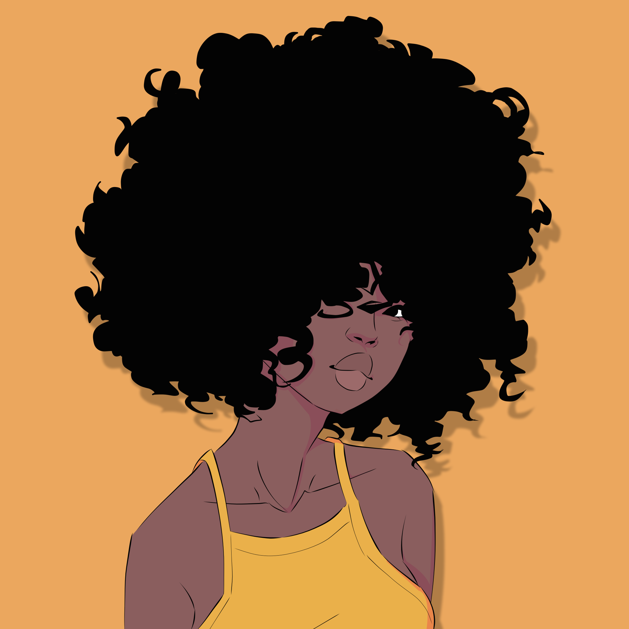E Bony In 2020 Girl Hair Drawing Afro Hair Drawing Curly Hair Drawing