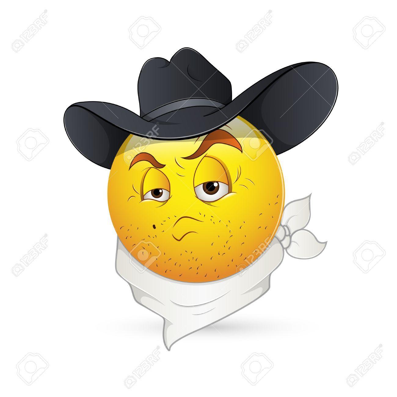 Smiley Emoticons Face Vector Cowboy Emoticon Face Vector Smiley