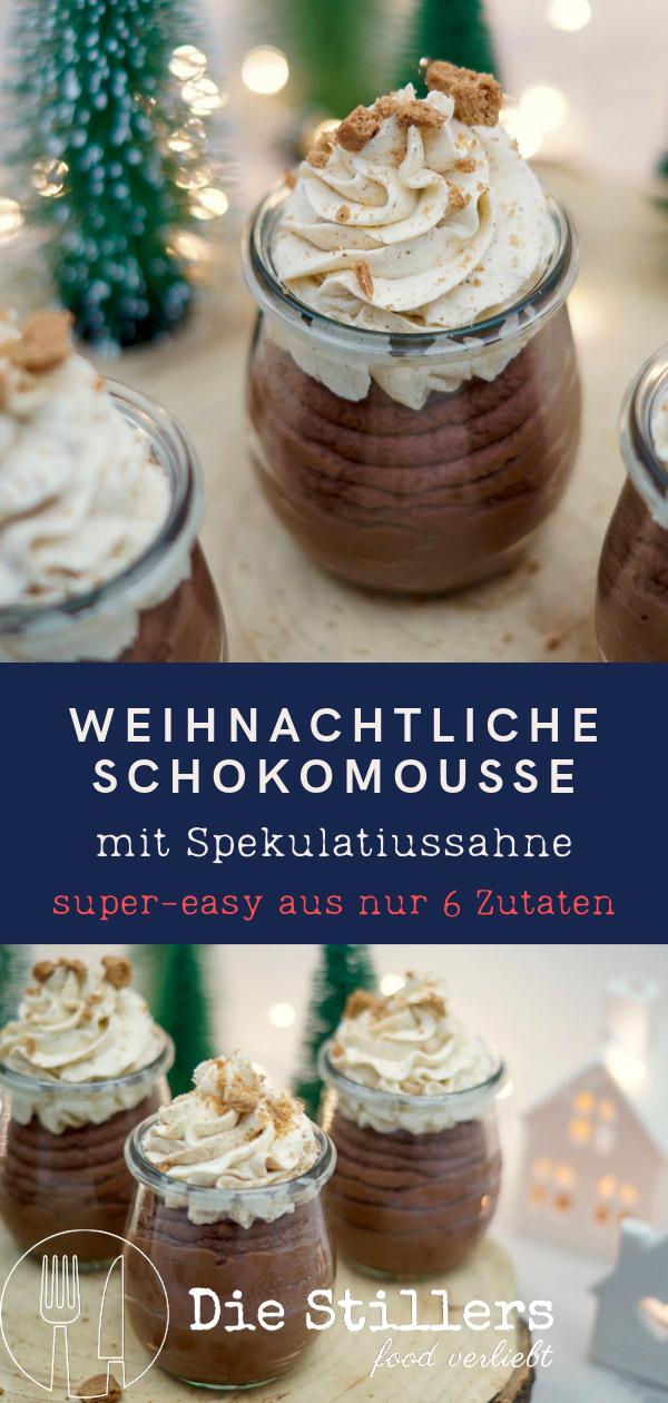 Weihnachtliche Schokomousse Mit Spekulatiussahne Weihnachten Kochen Dessert Rezepte Einfach Einfacher Nachtisch